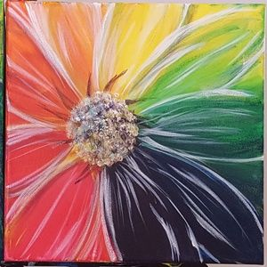 Flower Painting. 10 x 10 Canvas